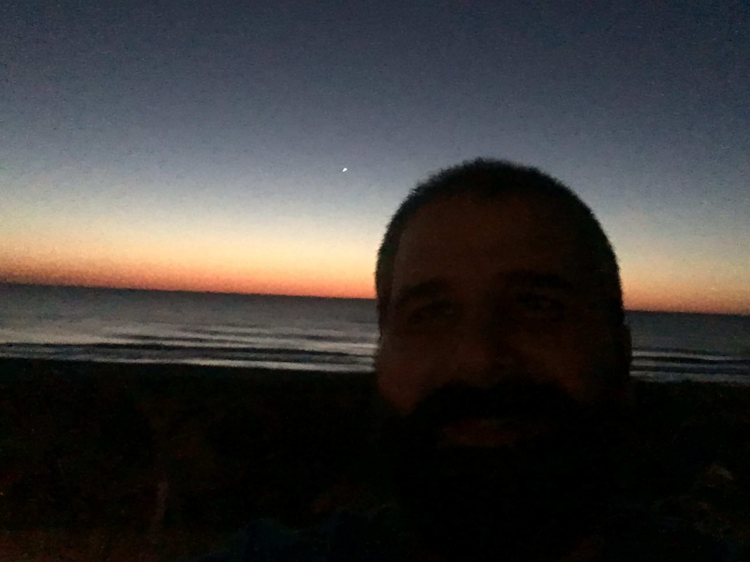 ocean city sunrise silhouette