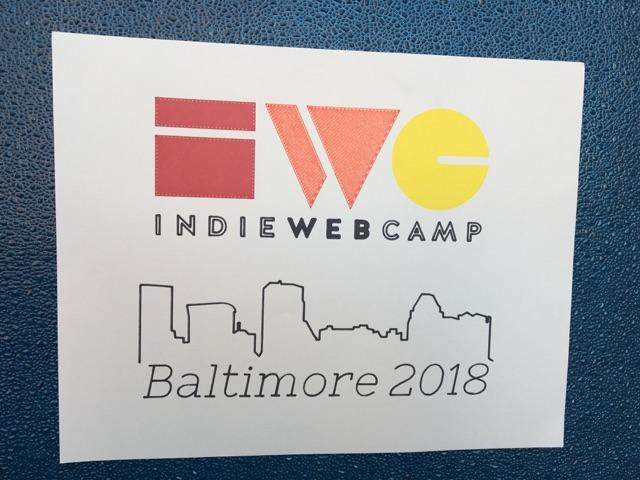 indiewebcamp baltimore plotter drawn sign